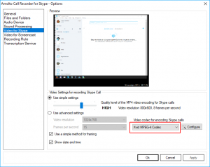 Xvid activation for Skype recording