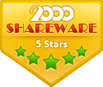 5 stars Award on 2000shareware